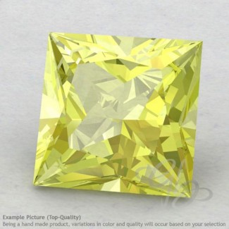 Lemon Quartz Square Shape Calibrated Gemstones