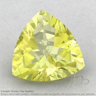 Lemon Quartz Trillion Shape Calibrated Gemstones