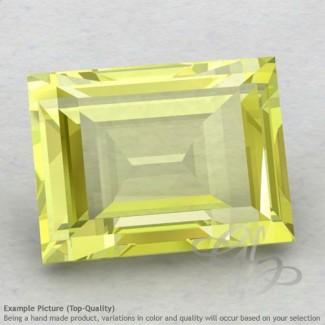 Lemon Quartz Baguette Shape Calibrated Gemstones