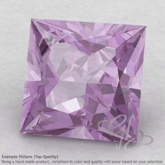 Pink Amethyst Square Shape Calibrated Gemstones