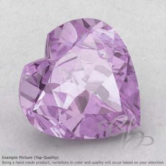 Pink Amethyst Heart Shape Calibrated Gemstones