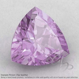 Pink Amethyst Trillion Shape Calibrated Gemstones