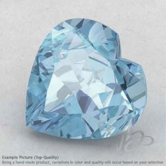 Aquamarine Heart Shape Calibrated Gemstones