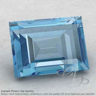 Sky Blue Topaz Baguette Shape Calibrated Gemstones