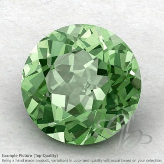 Green Amethyst Round Shape Calibrated Gemstones