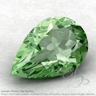 Green Amethyst Pear Shape Calibrated Gemstones