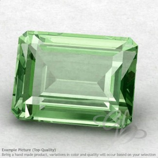 Green Amethyst Octagon Shape Calibrated Gemstones