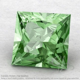 Green Amethyst Square Shape Calibrated Gemstones