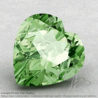 Green Amethyst Heart Shape Calibrated Gemstones