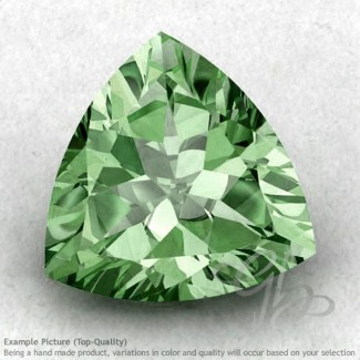 Green Amethyst Trillion Shape Calibrated Gemstones