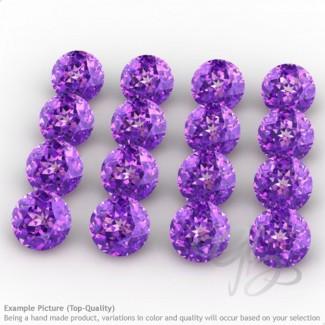 African Amethyst Round Shape Micro Gemstones