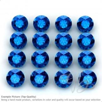 Neon Blue Apatite Round Shape Micro Gemstones