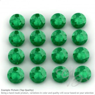Green Onyx Round Shape Micro Gemstones