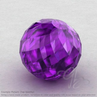 African Amethyst Round Shape Calibrated Beads