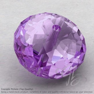 Brazilian Amethyst Rondelle Shape Calibrated Beads