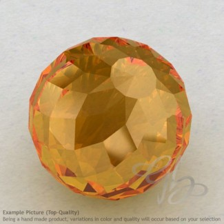 Citrine Round Shape Calibrated Beads