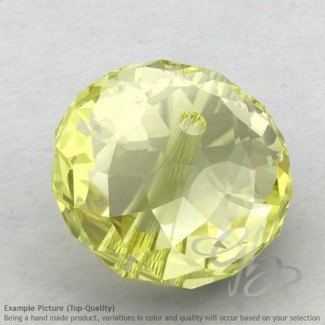 Lemon Quartz Rondelle Shape Calibrated Beads
