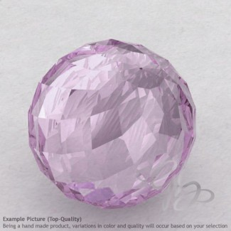 Pink Amethyst Round Shape Calibrated Beads