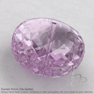 Pink Amethyst Rondelle Shape Calibrated Beads