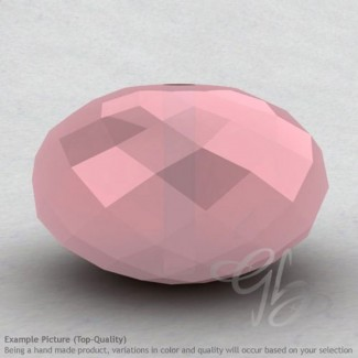 Pink Chalcedony Rondelle Shape Calibrated Beads