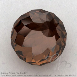 Smoky Quartz Round Shape Calibrated Beads