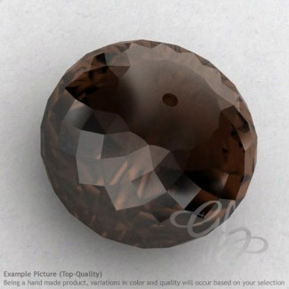 Smoky Quartz Rondelle Shape Calibrated Beads