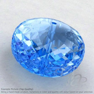 Swiss Blue Topaz Rondelle Shape Calibrated Beads