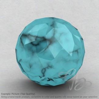 Turquoise Round Shape Calibrated Beads