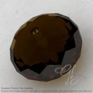Whisky Quartz Rondelle Shape Calibrated Beads