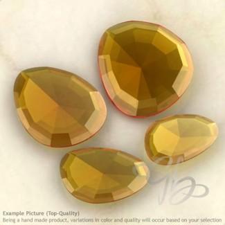 Citrine Irregular Shape Rose-Cut Gemstones