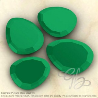 Green Onyx Irregular Shape Rose-Cut Gemstones