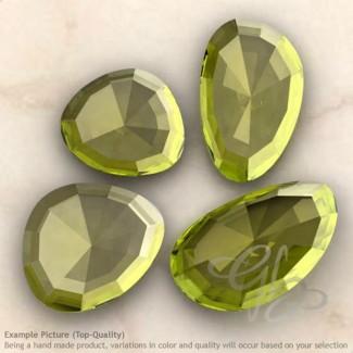 Green Gold Quartz Irregular Shape Rose-Cut Gemstones