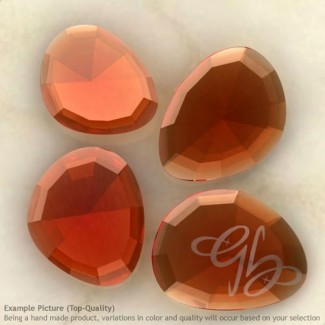 Hydro Brandy Citrine Quartz Irregular Shape Rose-Cut Gemstones