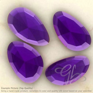 Hydro Dark Amethyst Quartz Irregular Shape Rose-Cut Gemstones