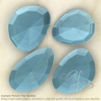 Hydro Swiss Blue Quartz Irregular Shape Rose-Cut Gemstones