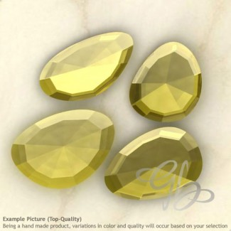 Lab Yellow Sapphire Irregular Shape Rose-Cut Gemstones