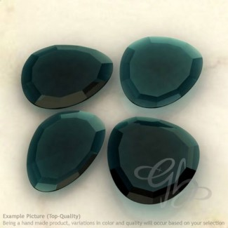 London Blue Topaz Irregular Shape Rose-Cut Gemstones