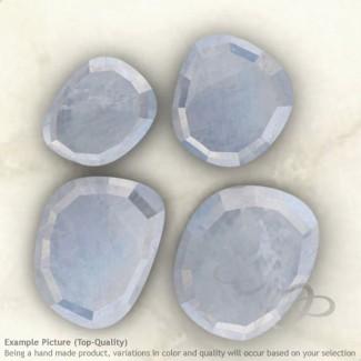 Rainbow Moonstone Irregular Shape Rose-Cut Gemstones