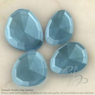 Sky Blue Topaz Irregular Shape Rose-Cut Gemstones
