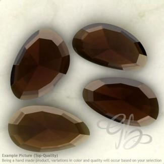 Smoky Quartz Irregular Shape Rose-Cut Gemstones