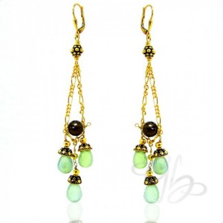 Prehnite 925 Sterling Silver Earrings