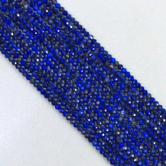 Lapis Lazuli 2-2.5mm Micro Faceted Rondelle Shape Beads Strand