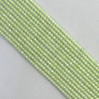 Prehnite 2-2.5mm Micro Faceted Rondelle Shape Beads Strand