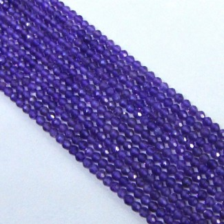 African Amethyst 3-3.5mm Micro Faceted Rondelle Shape Beads Strand