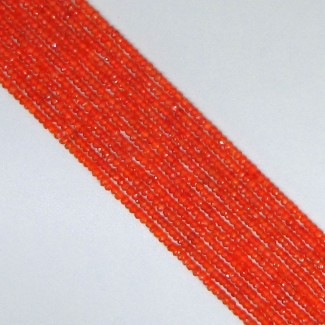 Carnelian 4-4.5mm Faceted Rondelle Shape Beads Strand