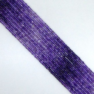 African Amethyst 3-3.5mm Faceted Rondelle Shape Beads Strand