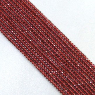 Rhodolite Garnet 3-3.5mm Micro Faceted Rondelle Shape Beads Strand