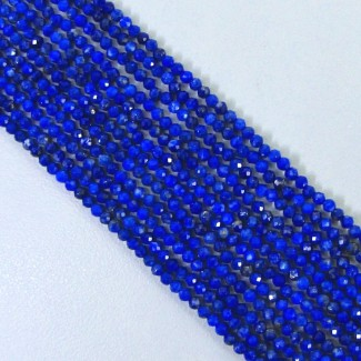 Lapis Lazuli 3-3.5mm Micro Faceted Rondelle Shape Beads Strand