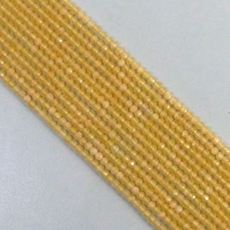 Calcite 2-2.5mm Micro Faceted Rondelle Shape Beads Strand