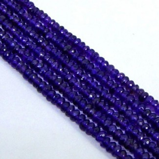 African Amethyst 4-4.5mm Faceted Rondelle Shape Beads Strand